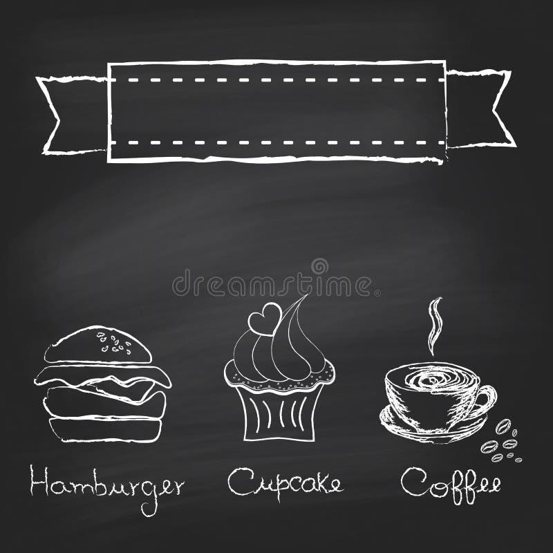 Rocznika chalkboard menu ilustracja wektor