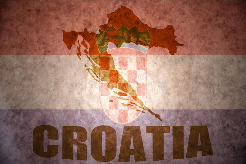 Rocznika Croatia mapa zdjęcie royalty free