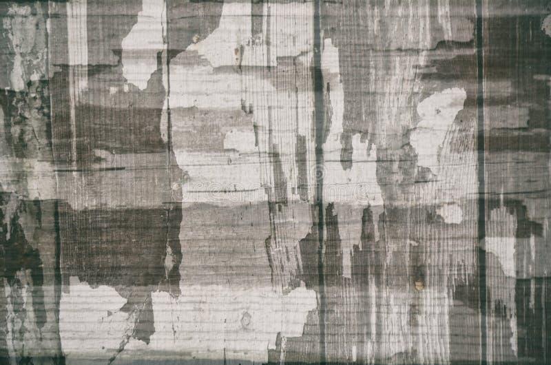 Rocznika czarny i biały szary abstrakcjonistyczny tło z starą krakingową farbą textured, kamuflaż zdjęcie royalty free