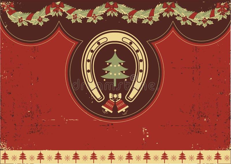 Rocznika czerwieni Boże Narodzenia ilustracji
