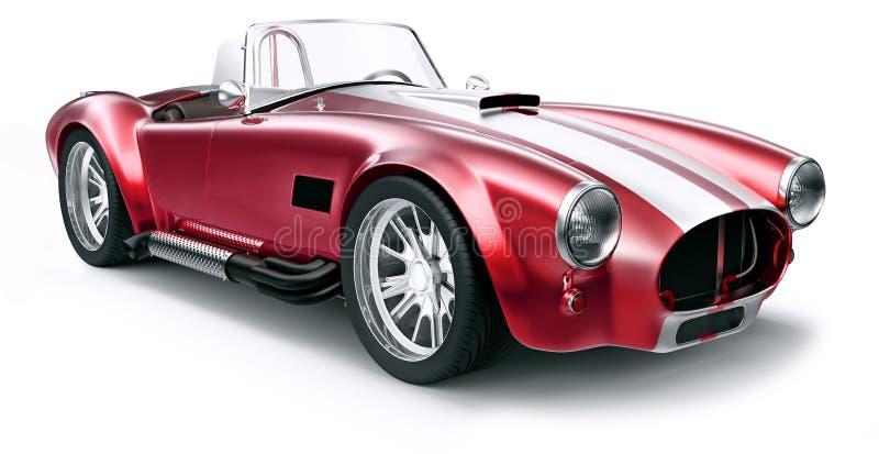 Rocznika czerwieni samochód royalty ilustracja