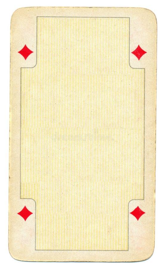 Rocznika diamentowego karta do gry pusty tło ilustracji