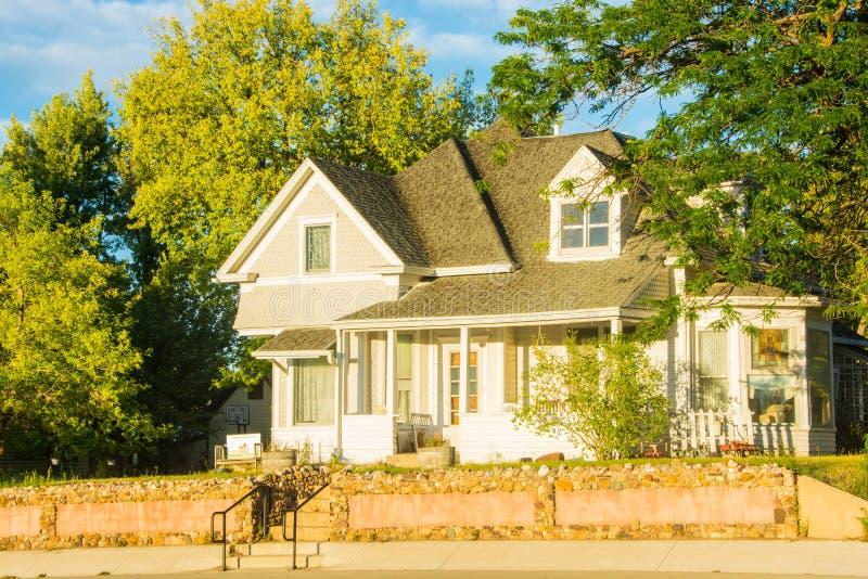 Rocznika dom w belle Fourche, Południowy Dakota obraz royalty free