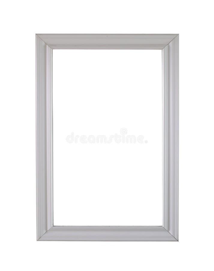 Rocznika drewna biała rama odizolowywająca na białym tle zdjęcia stock