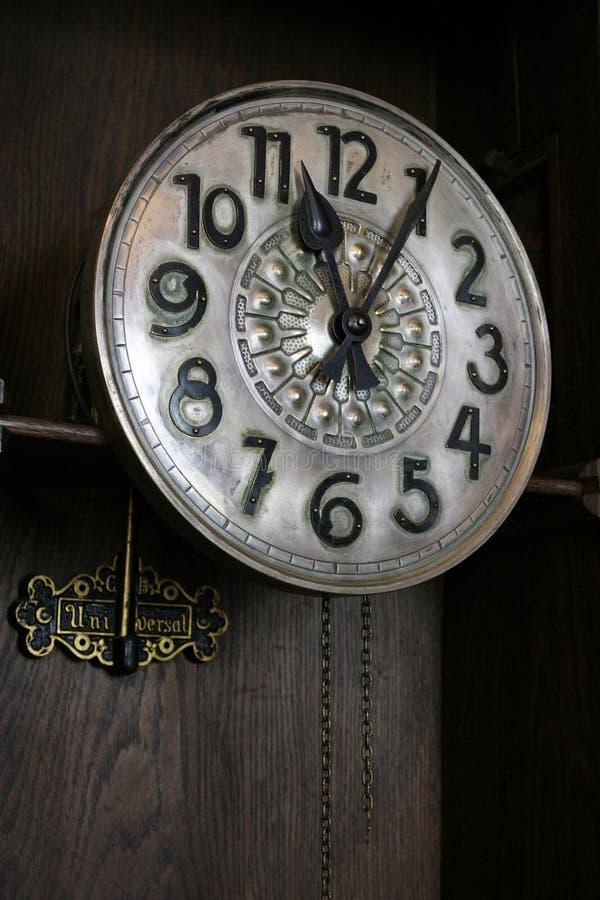 Rocznika drewna zegar obrazy stock