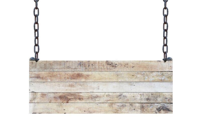Rocznika drewna znaka pusta deska obrazy royalty free
