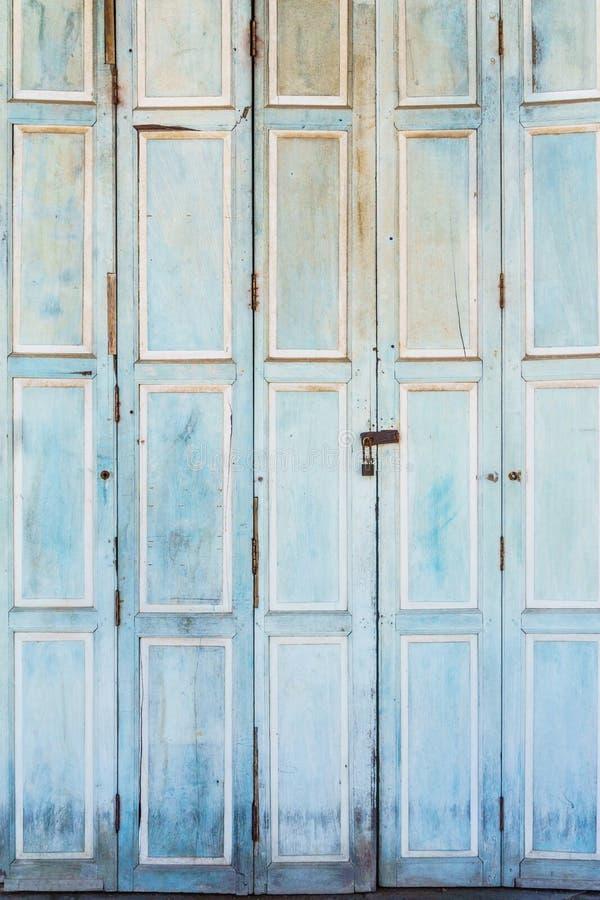 Rocznika drewniany drzwi fotografia royalty free