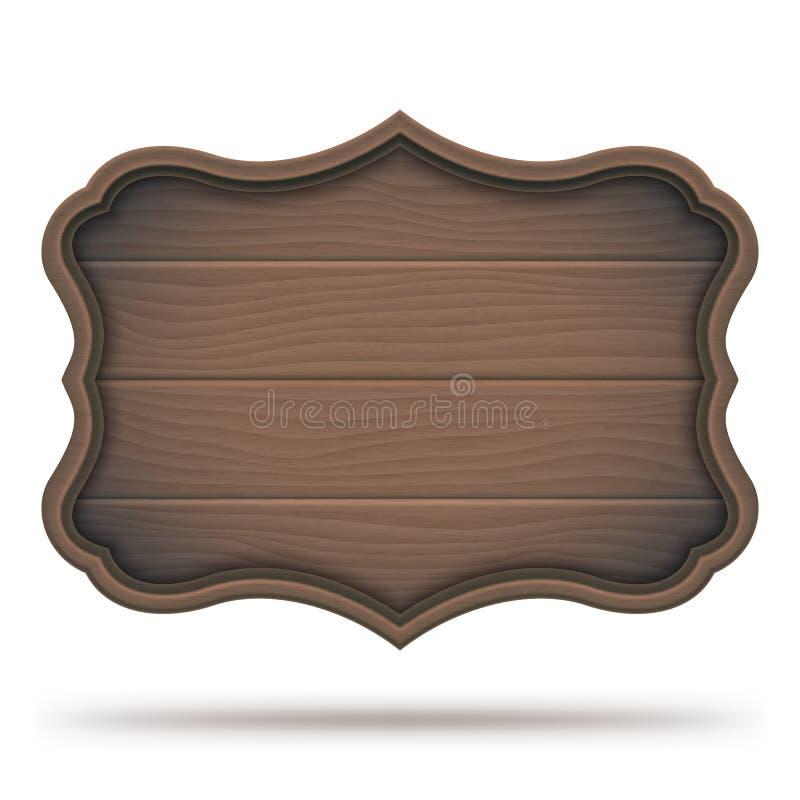 Rocznika drewniany signboard ilustracja wektor