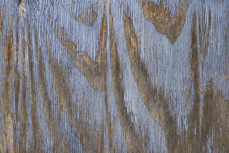 Rocznika drewniany t?o z b??kitn? koloru obierania farb? obraz royalty free