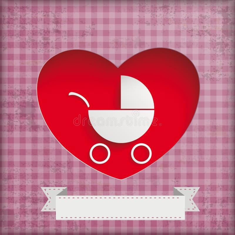 Rocznika dziecka powozika dziury serca ilustracji
