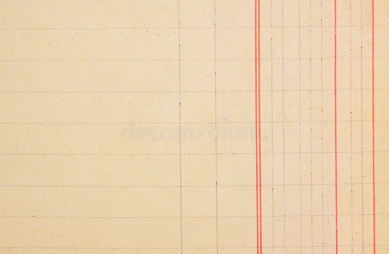 Rocznika dzienniczka agendy pusty papier zdjęcia royalty free