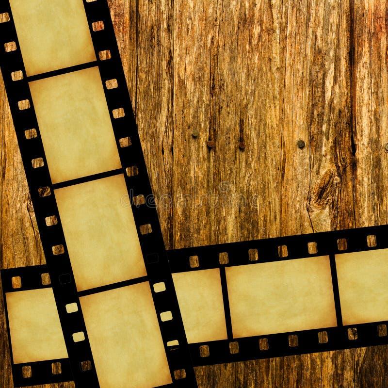 rocznika ekranowy drewno royalty ilustracja