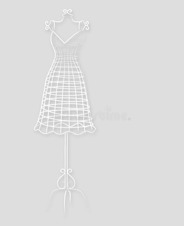 Rocznika elegancki mannequin ilustracja wektor