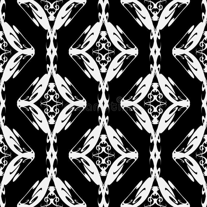 Rocznika etniczny stylowy bezszwowy wzór Plemienny ornamentacyjny tło Wektorowa ręka rysujący monochromatyczny ornament Abstrakcj ilustracja wektor