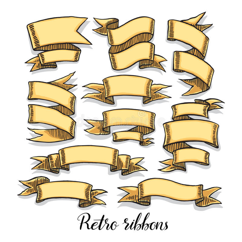 Rocznika faborku sztandary ilustracji