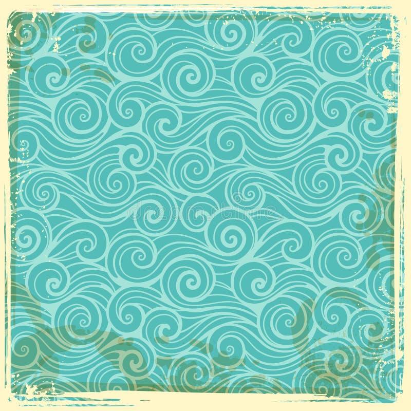 Download Rocznika falowy tło ilustracja wektor. Ilustracja złożonej z kolor - 28960476