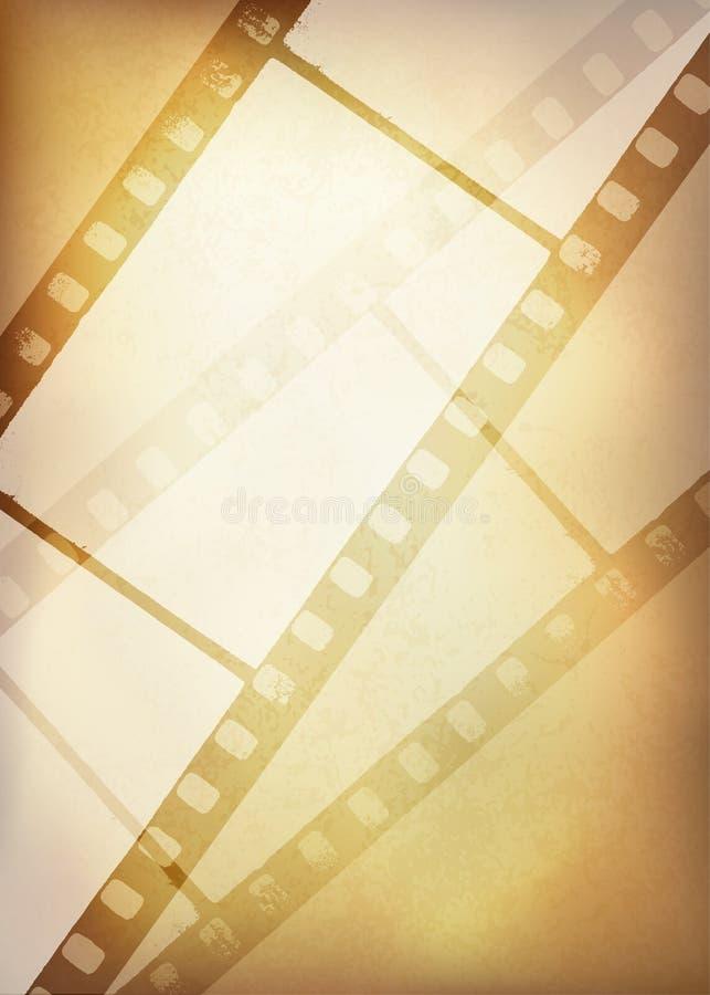Rocznika filmu paska tło, ilustracja wektor