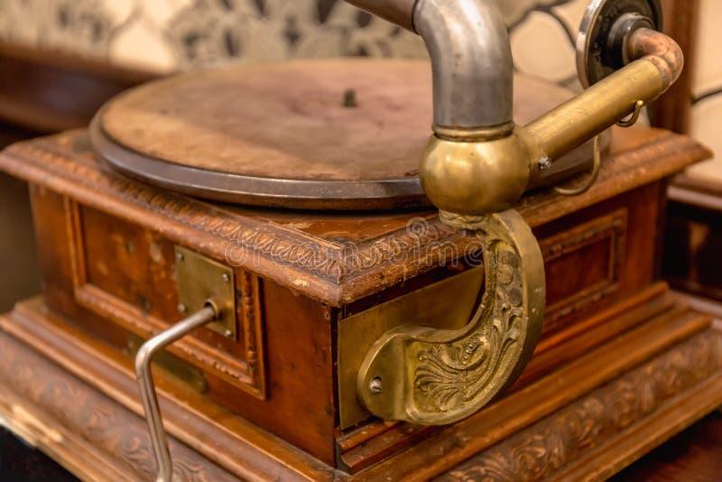Rocznika fonograf lub opowiadać maszyna fotografia royalty free