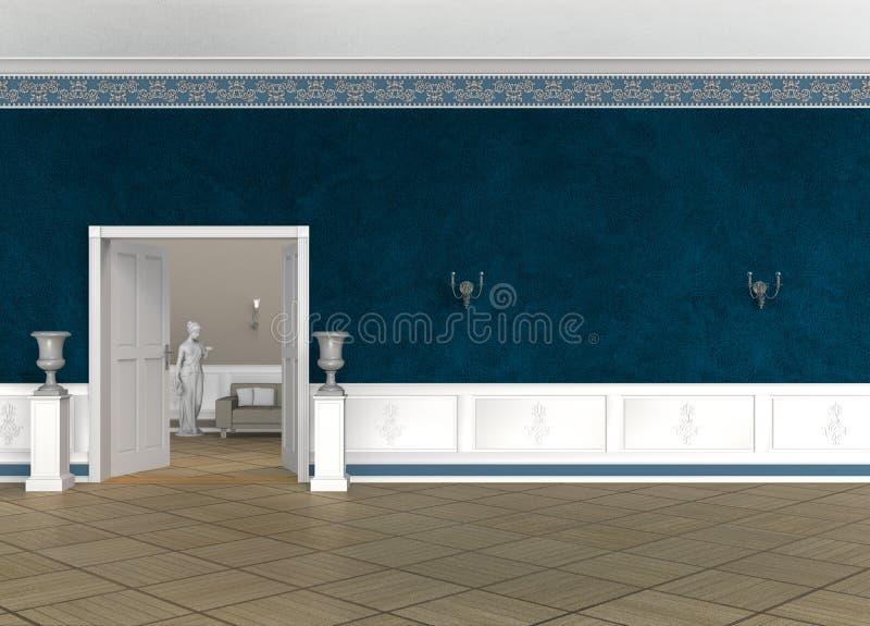 Rocznika foyeru wnętrze royalty ilustracja