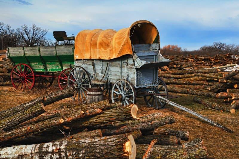 rocznika furgonu western zdjęcie royalty free