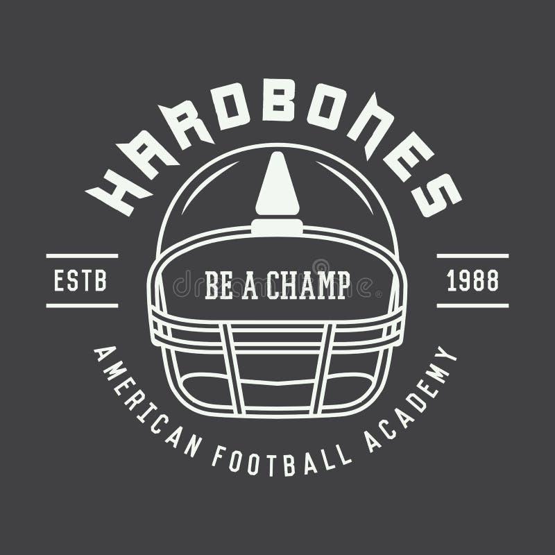 Download Rocznika Futbolu Amerykańskiego I Rugby Etykietka Emblemat Lub Logo, Ilustracja Wektor - Ilustracja złożonej z druk, ochrona: 57669091
