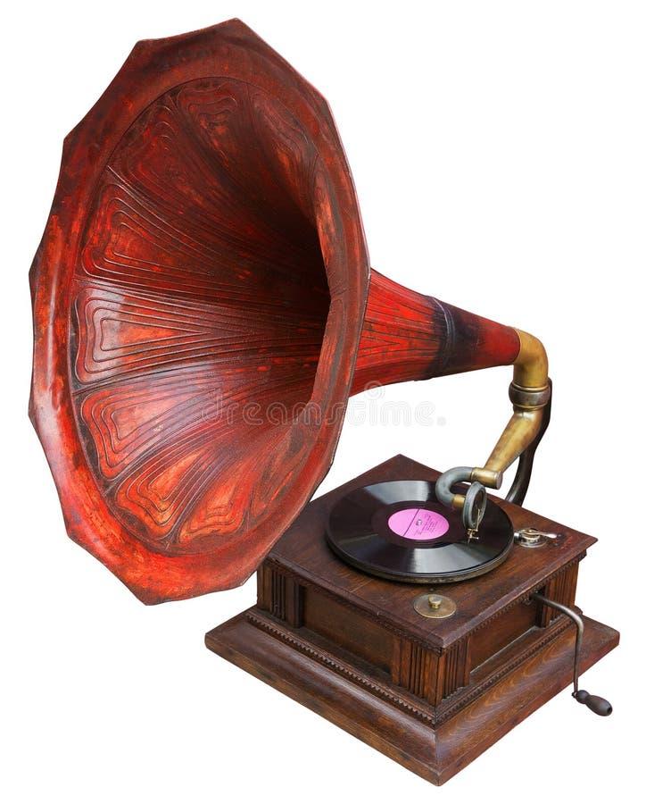 rocznika gramofonowy ilustracyjny wtercolor fotografia stock