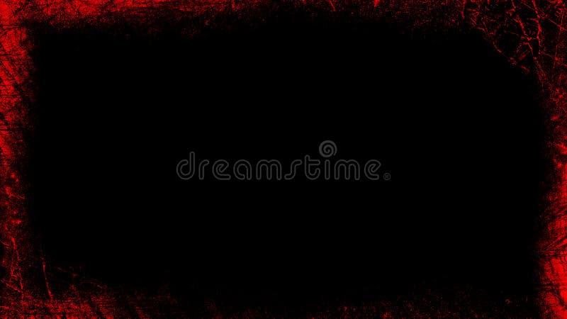 Rocznika grunge czerwona granica na odosobnionym białym tle dla copyspace Abstrakt ramowe narzuty elementy projektu podobie?stwo  royalty ilustracja