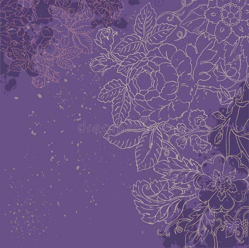 Rocznika grunge kwiatu backgriund royalty ilustracja