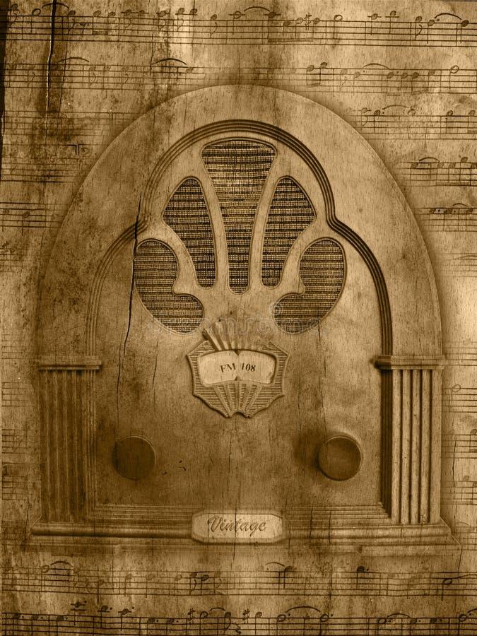 Rocznika grunge radiowy tło obraz stock