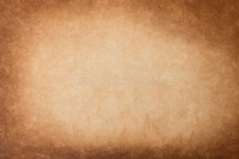Rocznika grunge tła tekstury stary papier Brown burnt papierowego tło obraz stock