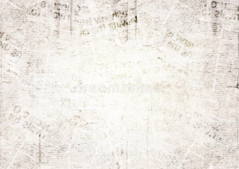 Rocznika grunge tekstury gazetowy tło obrazy royalty free