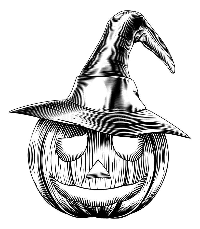 Rocznika Halloween życzliwa bania ilustracji