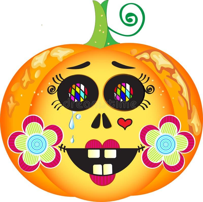Rocznika Halloween bania royalty ilustracja