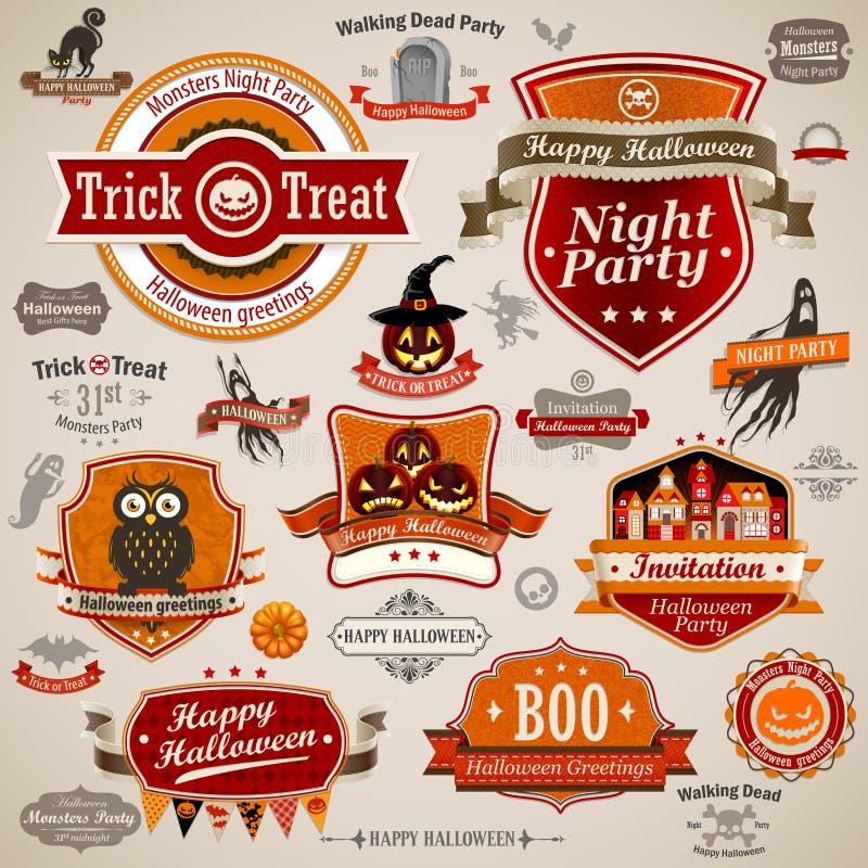 Rocznika halloweenowy se ilustracji
