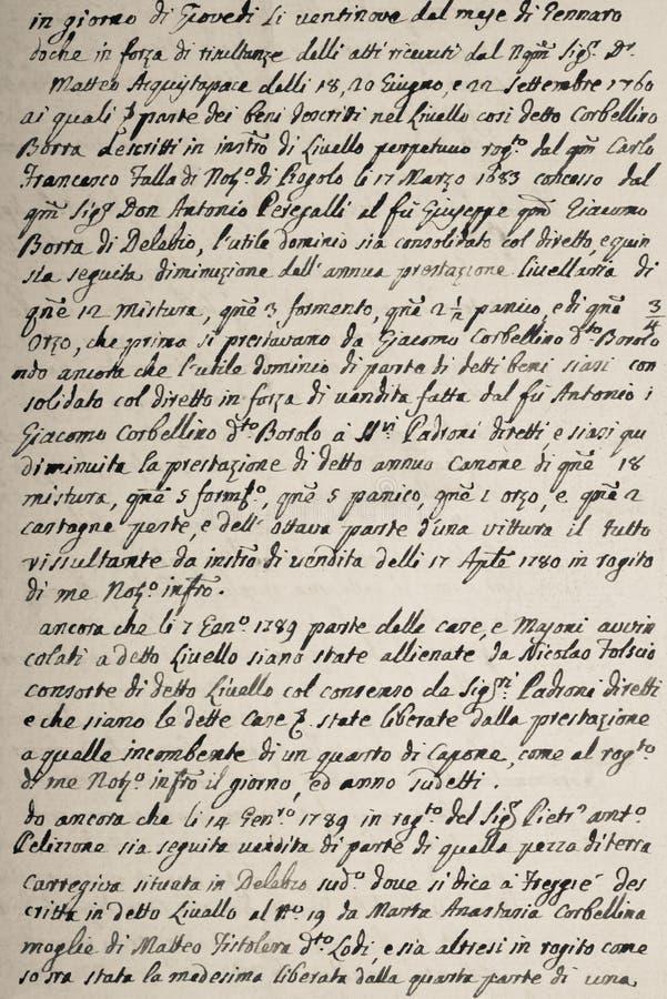 Rocznika Handwriting list obraz royalty free