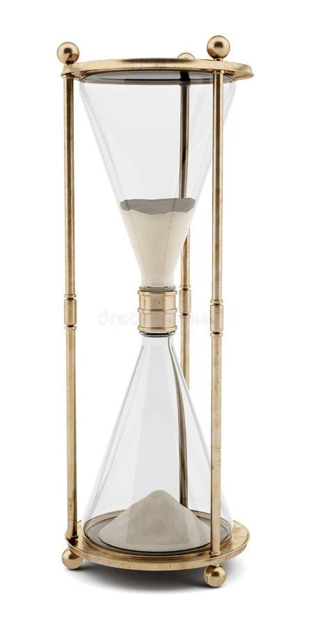 Rocznika hourglass odizolowywający na bielu ilustracji