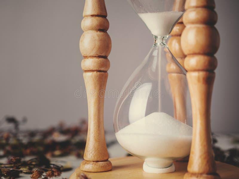 Rocznika hourglass, sandglass lub jajeczny zegar, obraz stock
