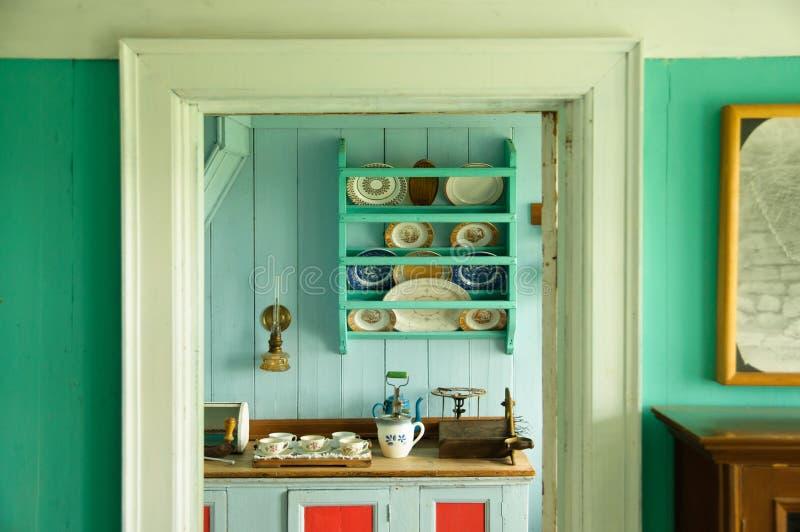 Rocznika icelandic kuchnia obrazy stock