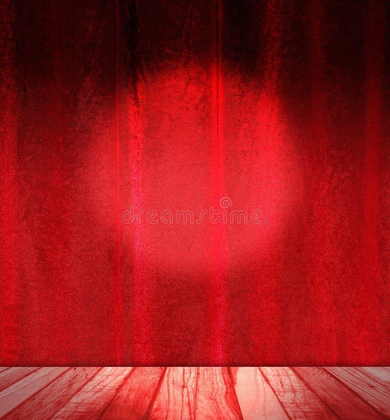 Rocznika izbowy wnętrze z czerwonym namiotem w jedwabiu fotografia stock