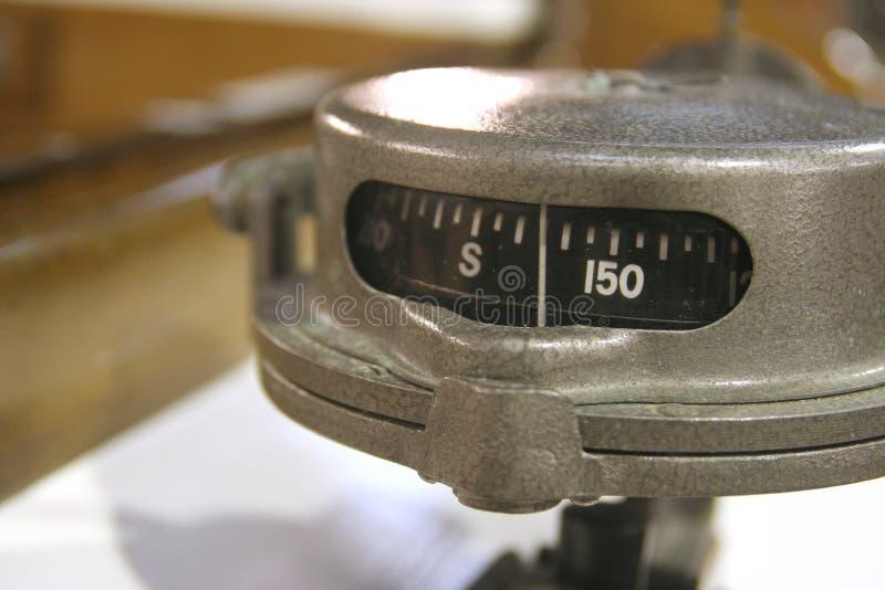 Rocznika jachtu kompas zdjęcie royalty free