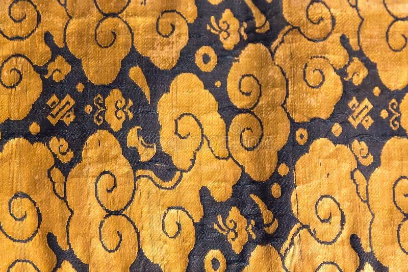 Rocznika Japonia tradycyjny japoński jedwabniczy kimonowy wzór na decorach zdjęcia royalty free