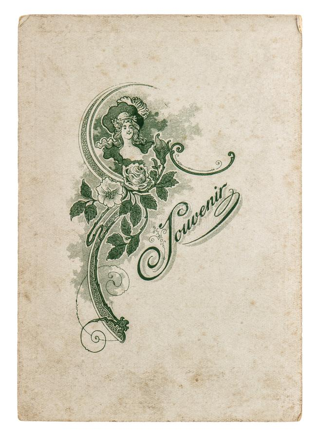 rocznika karton z nakreślenia 1914 papieru Używać prześcieradłem fotografia stock
