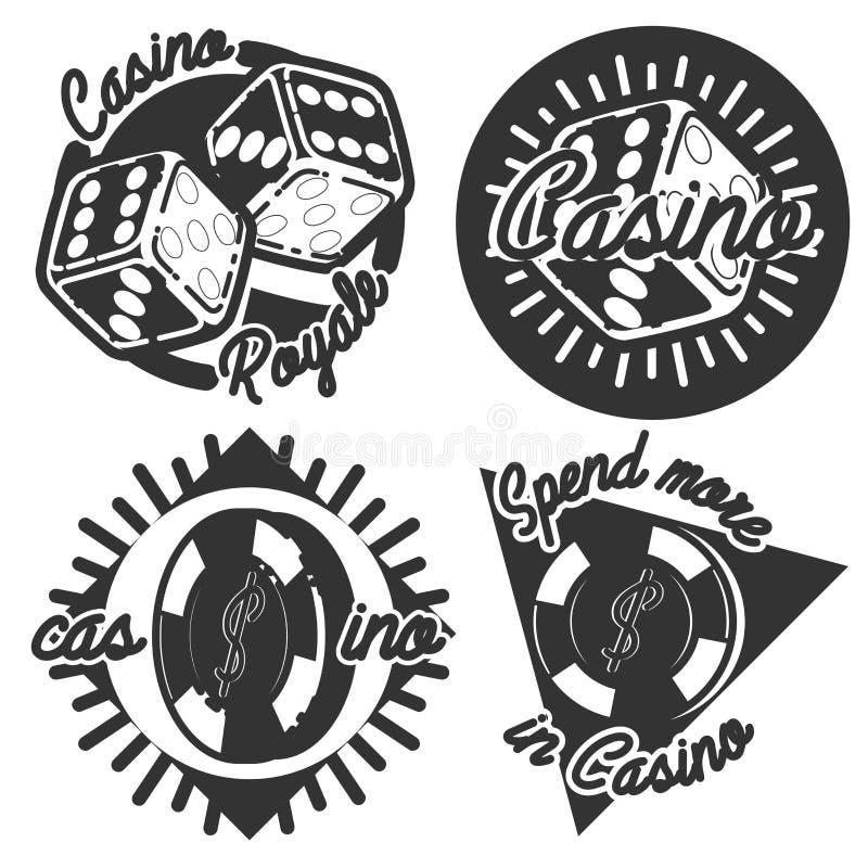 Rocznika kasyna emblematy ilustracji
