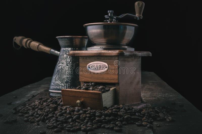 Rocznika kawowy ostrzarz zdjęcie stock
