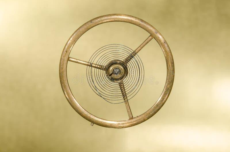Rocznika Kieszeniowego zegarka Hairspring Zawieszający w w powietrzu fotografia stock