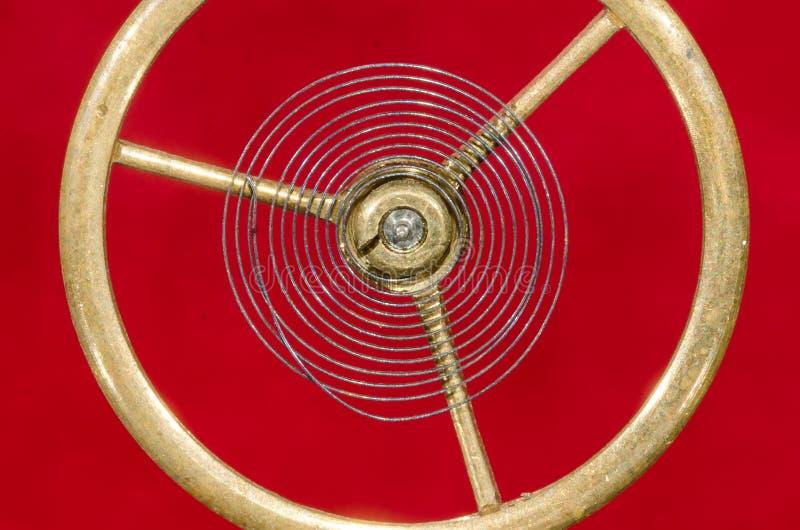 Rocznika Kieszeniowego zegarka Hairspring Zawieszający w w powietrzu zdjęcia royalty free