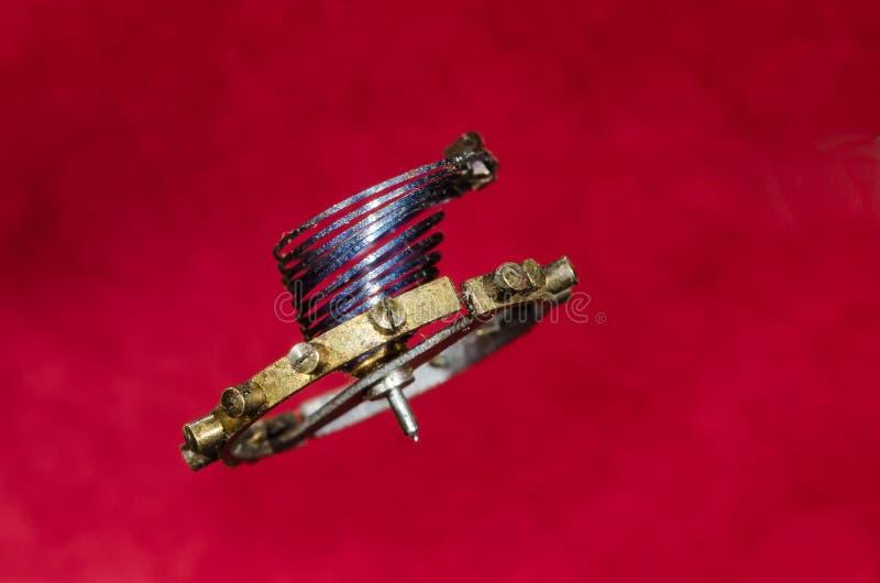Rocznika Kieszeniowego zegarka Hairspring Zawieszający w w powietrzu zdjęcie royalty free