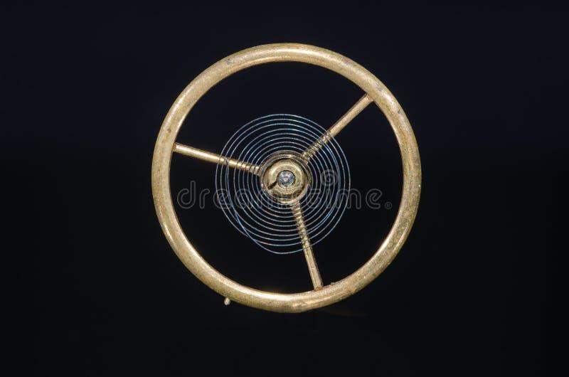 Rocznika Kieszeniowego zegarka Hairspring Zawieszający w w powietrzu fotografia royalty free