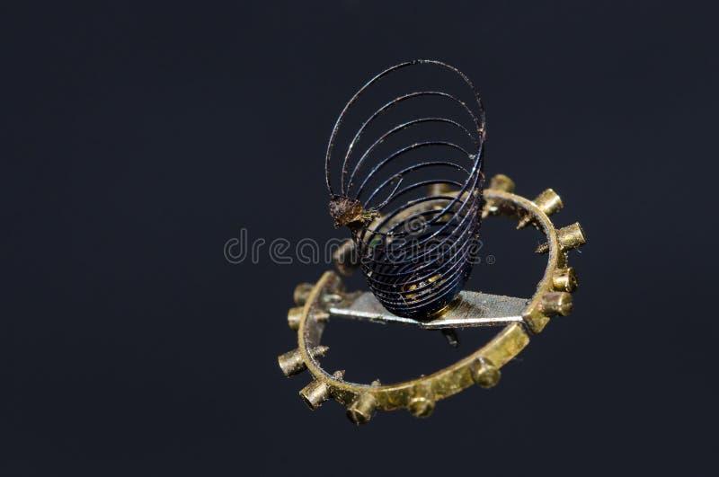 Rocznika Kieszeniowego zegarka Hairspring Zawieszający w w powietrzu zdjęcie stock