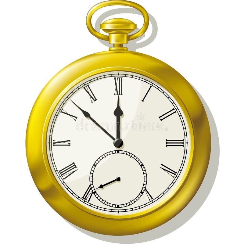 rocznika kieszeniowy zegarek ilustracji